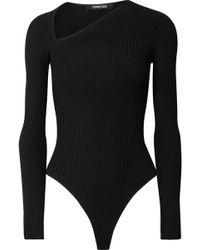 Cushnie et Ochs - Vivian Ribbed-knit Thong Bodysuit - Lyst