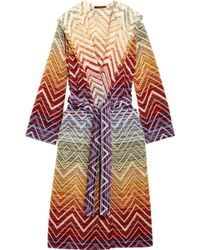 Missoni - Tolomeo Cotton-terry Robe - Lyst