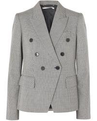 Stella McCartney - Double-breasted Wool-tweed Blazer - Lyst