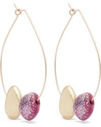 Dinosaur Designs - Small Mineral Gold-filled Resin Hoop Earrings - Lyst