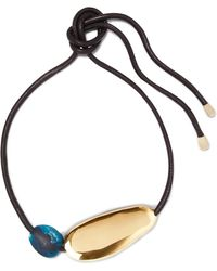 Dinosaur Designs - Stone Leather, Gold-tone And Resin Necklace - Lyst