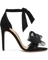 Alexandre Birman - Clarita Bow-embellished Suede And Tulle Sandals - Lyst