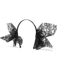 Yunotme - Echo Lace-trimmed Grosgrain Headband - Lyst