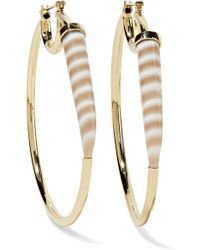 Kimberly Mcdonald - 18-karat Gold Chalcedony Hoop Earrings - Lyst