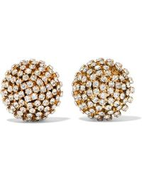 Rosantica Strobo Gold-tone Crystal Clip Earrings - Metallic