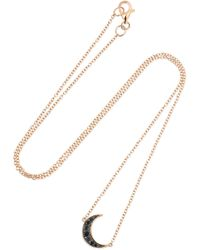 Andrea Fohrman - Luna 18-karat Rose Gold Diamond Necklace - Lyst
