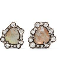 Kimberly Mcdonald - 18-karat Blackened White Gold, Diamond And Labradorite Earrings - Lyst
