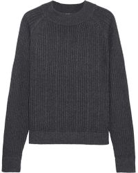 FRAME - Cable-knit Merino Wool-blend Jumper - Lyst