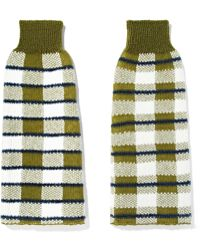 JOSEPH - Checked Stretch-knit Arm Warmers - Lyst