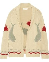 The Great - The Fisherman Intarsia Cotton-blend Cardigan - Lyst