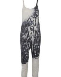 Raquel Allegra - Tie-dyed Cotton-blend Jersey Jumpsuit - Lyst