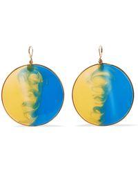 Missoni - Gold-tone Enamel Earrings - Lyst