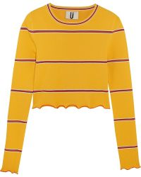 Topshop Unique - Margot Striped Stretch-knit Top - Lyst