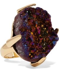 Christopher Kane - Gold-tone Stone Ring - Lyst