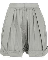 Vika Gazinskaya - Pleated Cotton Shorts - Lyst