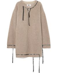 MM6 by Maison Martin Margiela - Oversized Sequin-embellished Wool-blend Bouclé Mini Dress - Lyst