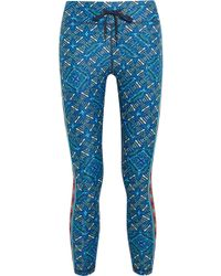 The Upside - Cropped Printed Stretch Leggings - Lyst