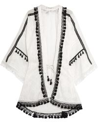 Jonathan Simkhai - Crochet-trimmed Embroidered Cotton-gauze Robe - Lyst