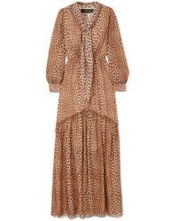 Rachel Zoe - Verushka Leopard-print Silk-chiffon Maxi Dress - Lyst