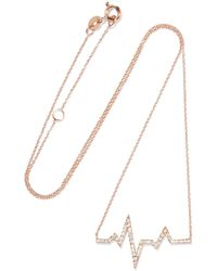 Diane Kordas - Heartbeat 18-karat Rose Gold Diamond Necklace - Lyst
