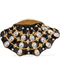 Kenneth Jay Lane - Gold-plated, Enamel And Crystal Brooch - Lyst