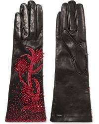Prada | Bead-embellished Leather Gloves | Lyst