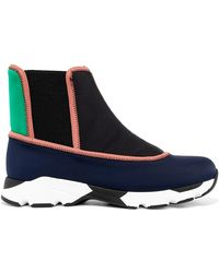 Marni - Color-block Neoprene Slip-on High-top Sneakers - Lyst