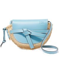 b2b9825e03 Loewe Puzzle Small Color-block Textured-leather Shoulder Bag in ...