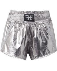 Heroine Sport - Appliquéd Grosgrain-trimmed Metallic Shell Shorts - Lyst