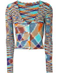 Missoni - Ribbed Stretch-knit Cardigan - Lyst