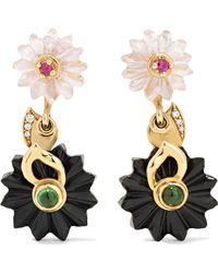 Alice Cicolini | 9-karat Gold Multi-stone Earrings | Lyst