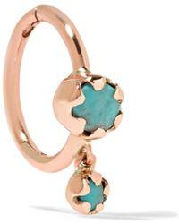 Pascale Monvoisin - Lara 9-karat Pink Gold Turquoise Earring - Lyst