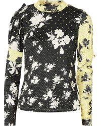 Preen Line - Konan Printed Stretch-jersey Top - Lyst