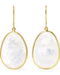 Pippa Small - 18-karat Gold Moonstone Earrings - Lyst