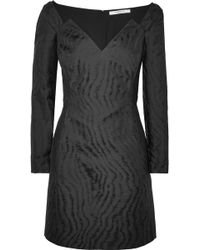 Givenchy | Moire-jacquard Mini Dress | Lyst