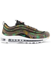 Nike - Air Max 97 Country Camo Leather And Canvas Trainers - Lyst