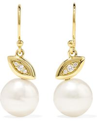 Ippolita - Nova 18-karat Gold, Diamond And Pearl Earrings - Lyst