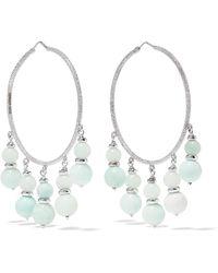 Carolina Bucci - Recharmed 18-karat White Gold Amazonite Hoop Earrings - Lyst
