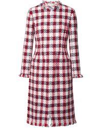 Oscar de la Renta - Fringed Cotton-blend Tweed Coat - Lyst