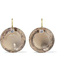 Marie-hélène De Taillac - 22-karat Gold, Quartz And Tanzanite Earrings - Lyst