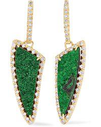 Kimberly Mcdonald - 18-karat Gold, Diamond And Garnet Earrings - Lyst