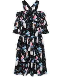 Borgo De Nor - Sandra Tiered Floral Midi Dress - Lyst