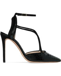 Giorgio Armani - Suede-trimmed Python Court Shoes - Lyst