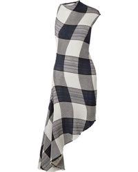 Marques'Almeida - Asymmetric Gingham Cotton Dress - Lyst
