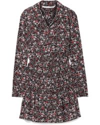 Veronica Beard - Rory Floral-print Silk-blend Crepe De Chine Mini Dress - Lyst