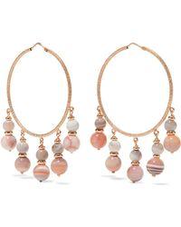 Carolina Bucci | Recharmed 18-karat Rose Gold Agate Hoop Earrings | Lyst