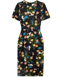Erdem - Essie Floral-print Stretch-jersey Dress - Lyst
