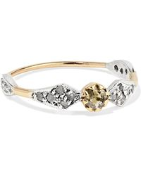 Pascale Monvoisin - Adele N°1 9-karat Gold, Sterling Silver And Diamond Ring - Lyst