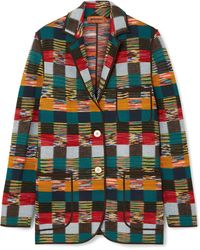 Missoni - Checked Wool Blazer - Lyst
