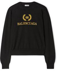 Balenciaga - Pull En Laine à Broderies - Lyst